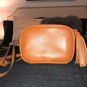 Faux-Leather Cross Body Bag with Fringe Tassel